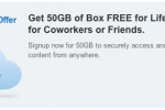 Box offering 50GB free for new members