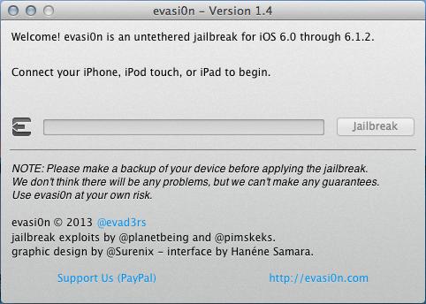 Evasi0n jailbreak updated for iOS 6.1.2. untethered