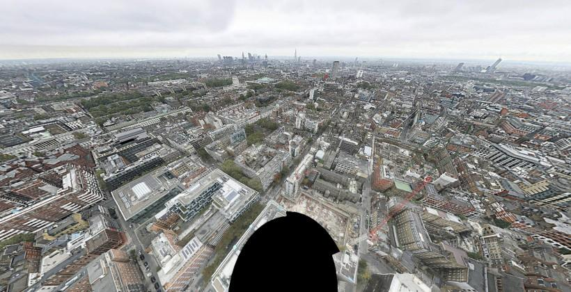 320-gigapixel panorama of London comprised of 48,640 shots