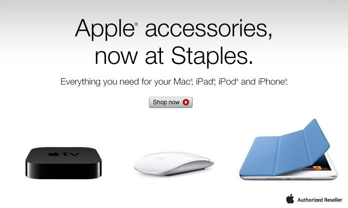 Apple accessories at Staples are available now