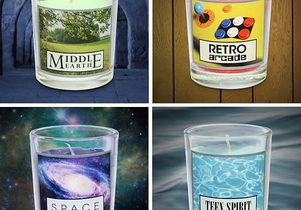 Geeky scented candles from ThinkGeek are perfect for Valentines romance
