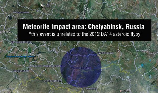 Russian meteor had nothing to do with 2012 DA14 asteroid flyby