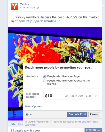 Facebook now allows friends to promote your posts