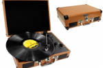 Pyle Retro Belt-Drive Turntable brings USB-recharge mobile
