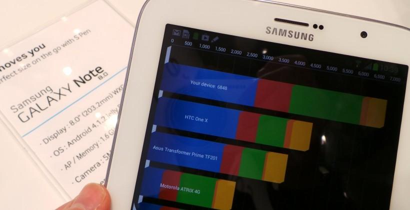 Samsung Galaxy Note 8.0 benchmarked: Tiny tablet packs a punch