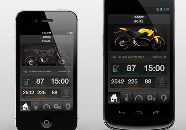 Zero Motorcycles offers the first smartphone app for controlling a motorcycle