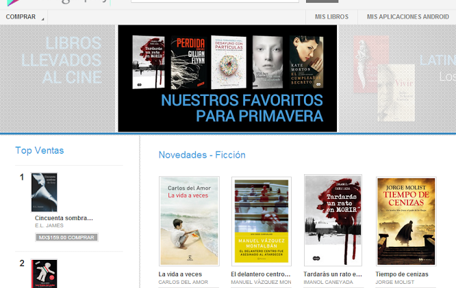 Google Play Books rolls out in Mexico