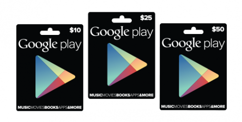 Google Play gift cards may be available in Canada soon