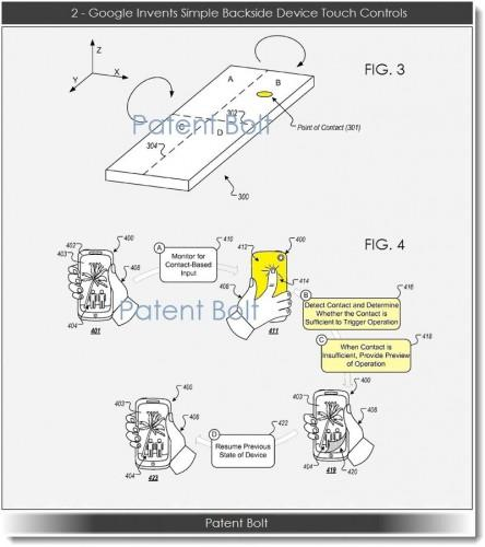 Google patents rear-touch controls 6 years after Apple 1