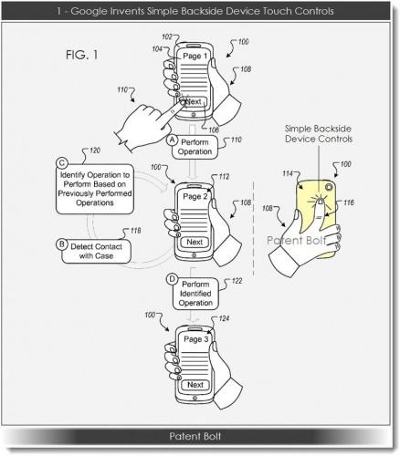 Google patents rear-touch controls 6 years after Apple 2