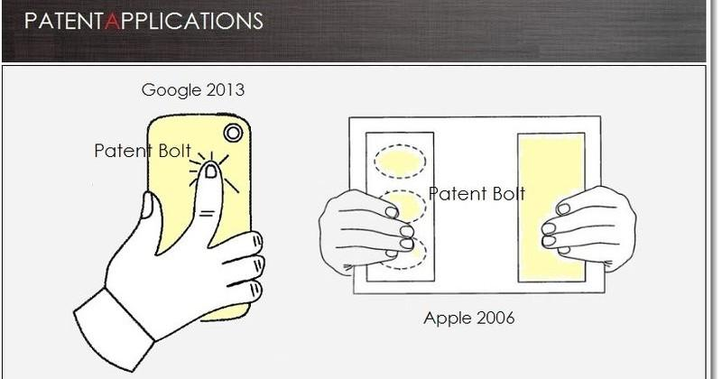 Google patents rear-touch controls 6 years after Apple