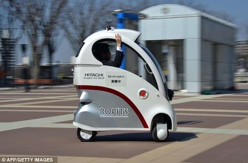Hitachi introduces Ropits, a robotic single passenger car
