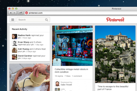 Pinterest rolling out revamped design 1
