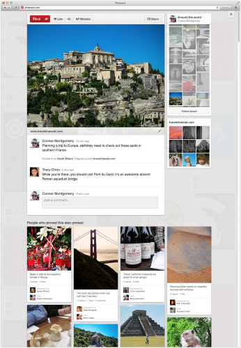 Pinterest rolling out revamped design 2