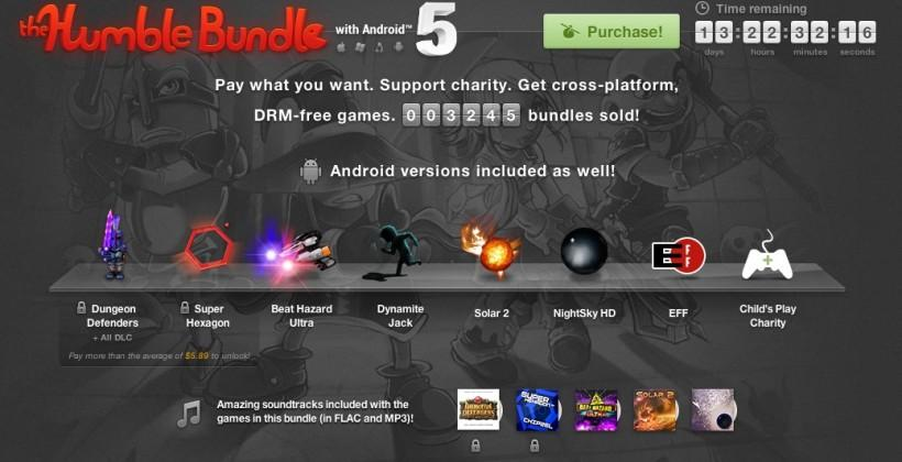 Humble Bundle with Android 5 launches with six awesome games