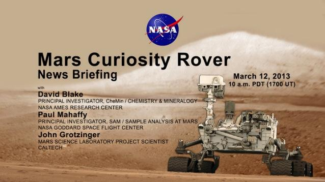 NASA holding Mars Curiosity briefing live at 1 pm ET