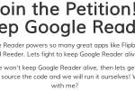 Google Reader shutdown sparks petitions to bring it back