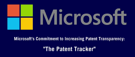 Microsoft moves towards greater transparency with Patent Tracker Tool