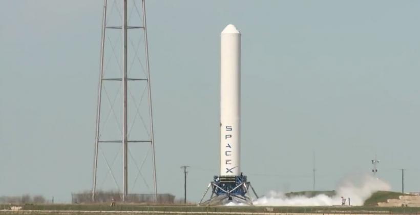 SpaceX shows impressive Grasshopper rocket demonstration