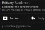 Gmail updated for Jelly Bean – notifications pulldown reply activated