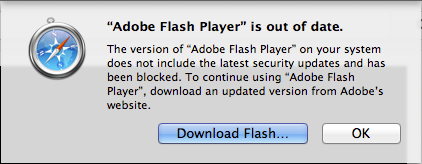 Apple blocks out-of-date Flash Player in Safari, tells users to update