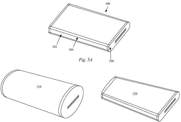 Apple patents wrap-around AMOLED display