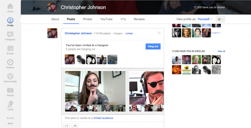 Google rolls out Hangouts Capture to make taking snapshots easy