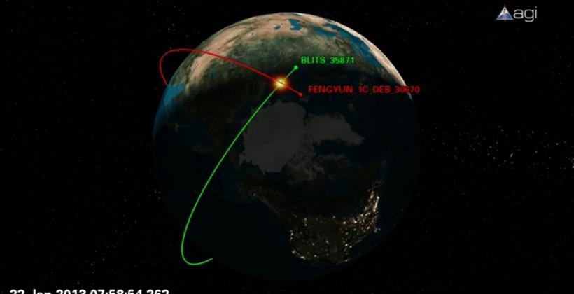 Chinese space junk collides with Russian satellite