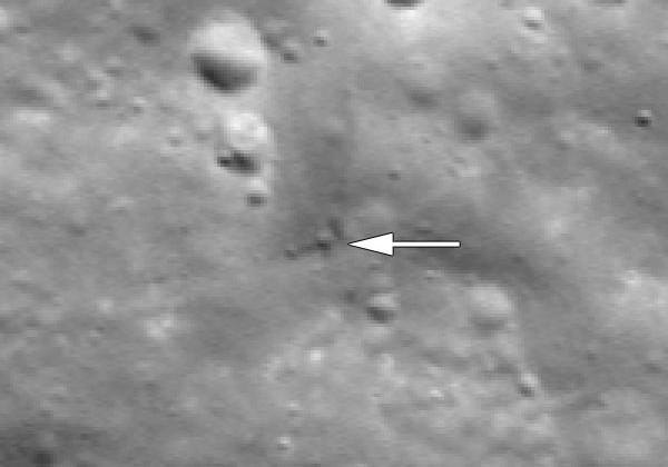 NASA Lunar Reconnaissance Orbiter spies GRAIL crash location