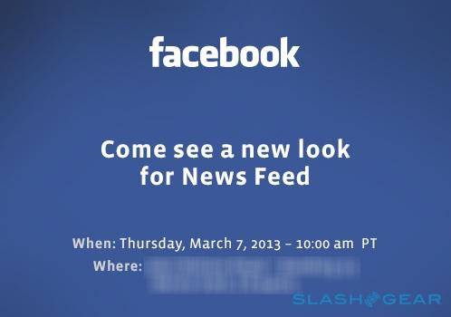 Facebook event scheduled for March 7, News Feed redesign imminent