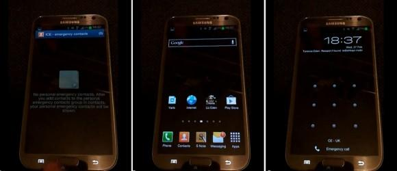 Galaxy Note II hack exposes homescreen
