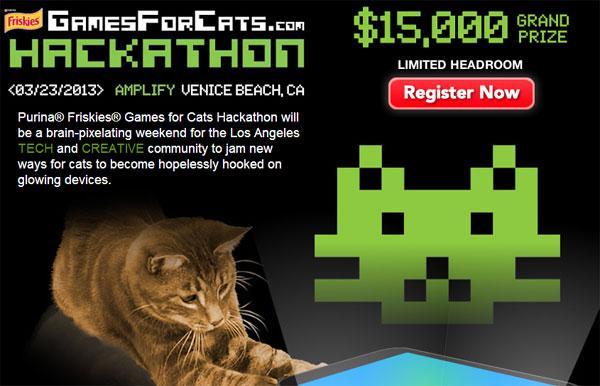 Friskies Hackathon offers big money for cat game developers