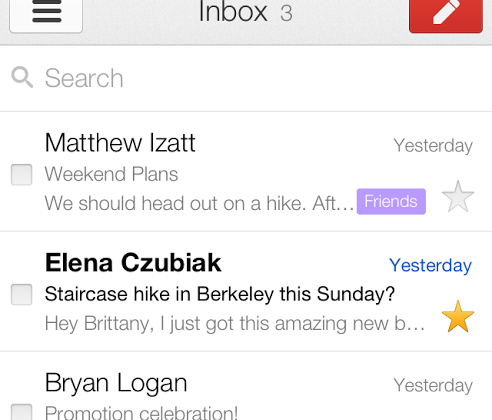Gmail Offline and mobile web app get refreshed UI