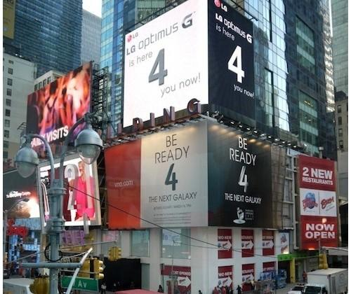 LG one-ups Samsung with Optimus G ad in Times Square