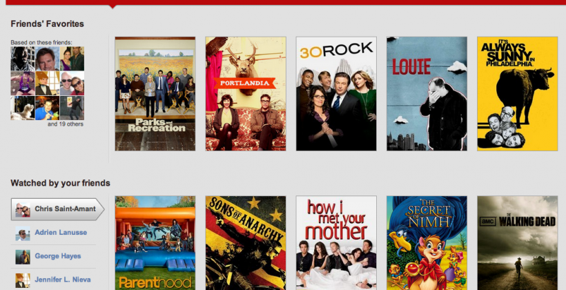 Netflix introduces Netflix Social to share favorite movies and shows with friends