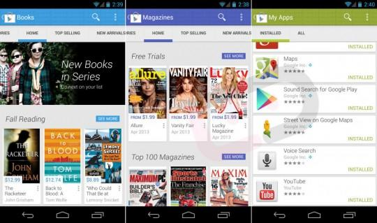 Google Play Store 4 leak shows alleged new design