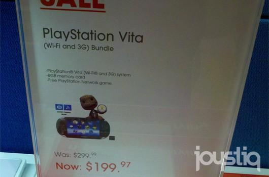 Sony drops PS Vita 3G to $199 in some US Sony Stores