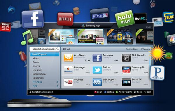Samsung announces new apps for smart TV users