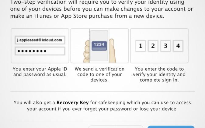 Apple iCloud now comes with two-step verification