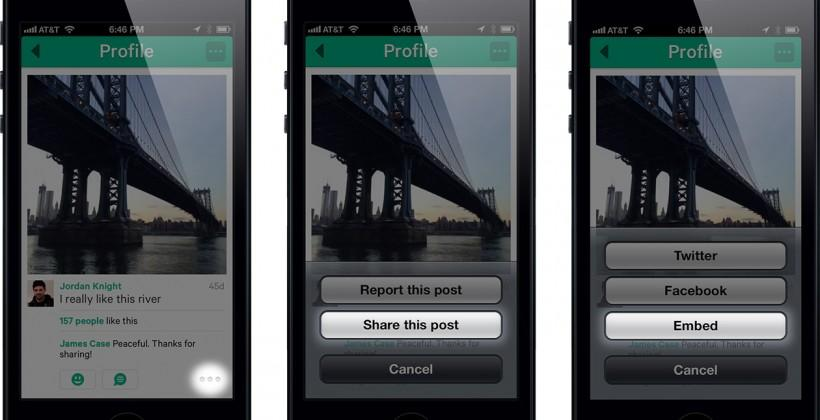 Vine introduces web embeds, still not available for Android