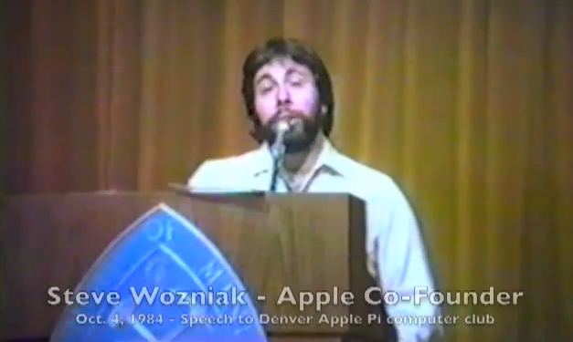 Weekend Watching: rediscovered VHS tapes of Woz speaking at 1984 Apple Pi club