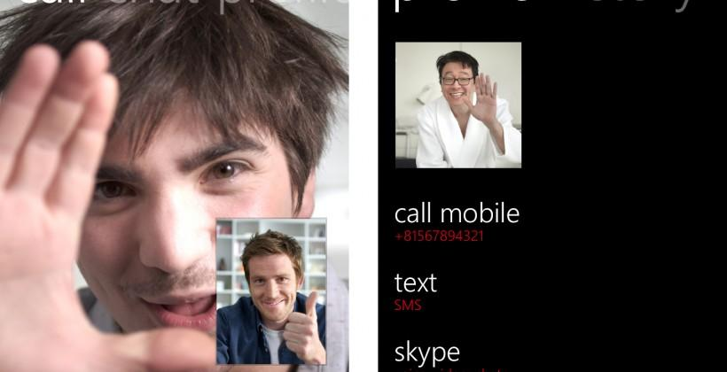 Skype for Windows Phone 8 updates with HD video