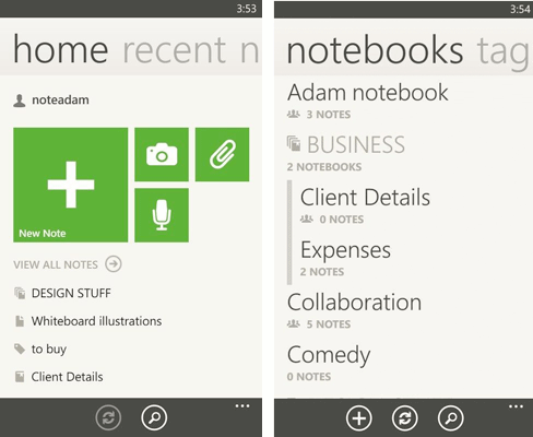 Evernote for Windows Phone updates with redesign, improved tags, and more