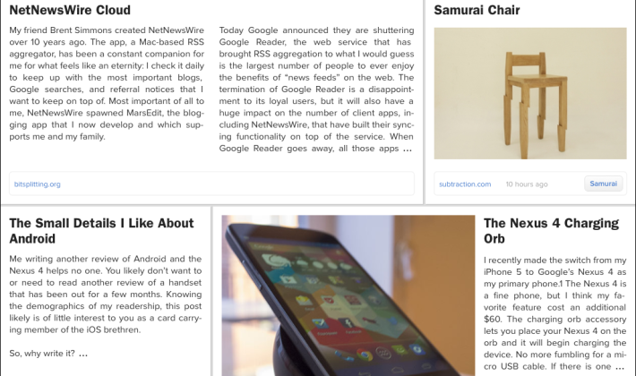 Zite bakes Google Reader replacement (but it's not perfect)