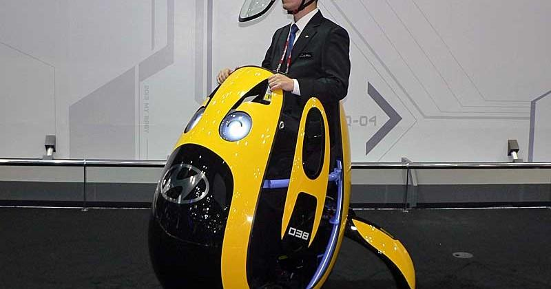 Hyundai reveals E4U egg-shaped personal mobility vehicle