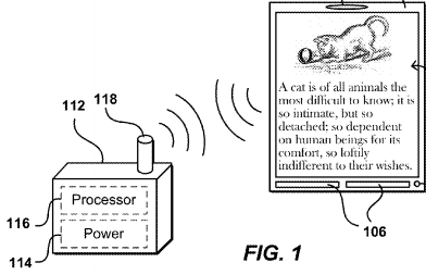 Amazon files patents for wirelessly powered remote displays 1