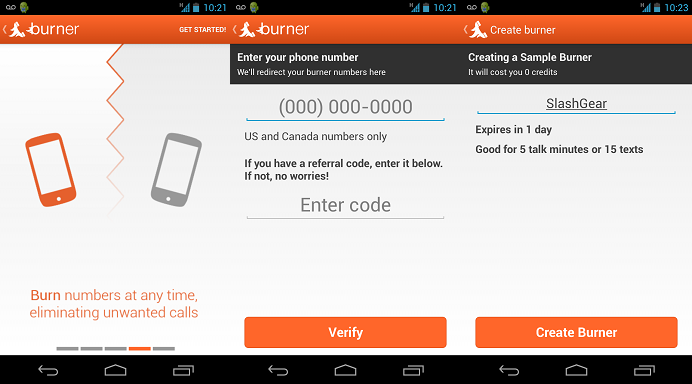 Burner brings its disposable phone number service to Android