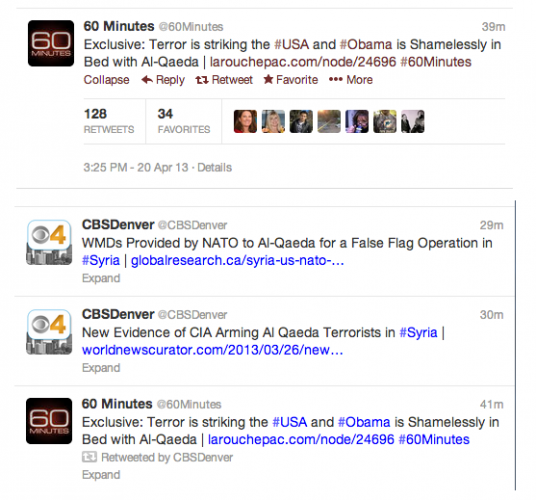 Hackers take control of several CBS News Twitter accounts 1