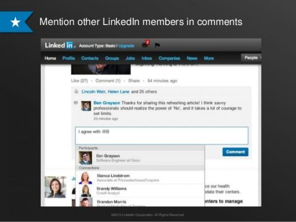 LinkedIn begins rolling out Facebook-like mentions 2