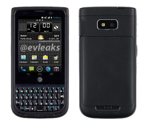 NEC Terrain leak shows QWERTY smartphone headed for AT&T
